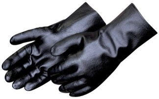 Liberty Gloves 2233 Smooth Finish Black PVC 12 inch Gauntlet Glove, Dozen