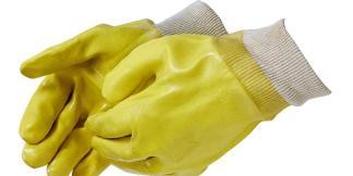 Liberty Gloves 2331JL Smooth Finish Yellow PVC Glove with Knit Wrist, Dozen