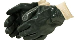 Liberty Gloves 2731 Sandy Finish Green PVC Glove with Knit Wrist, Dozen