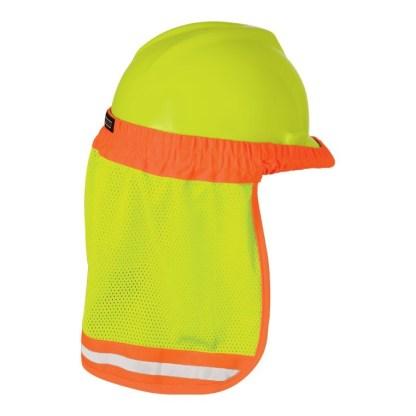 ML Kishigo 2810 Lime Hard Hat Sun Shield