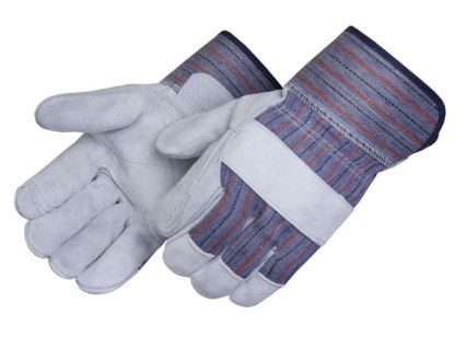 Liberty Gloves 3550Q Select Gray Double Leather Palm Gloves, Dozen