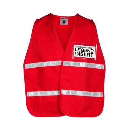 ML Kishigo 3708i Red Incident Command Vest
