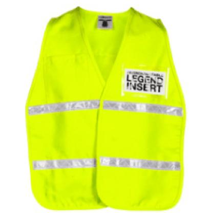 ML Kishigo 3713i Fluorescent Yellow Incident Command Vest