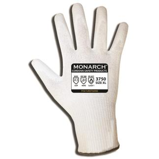 Monarch 3750 PU ANSI Cut A3 13-gauge, spun high-performance shell, white PU palm coating - Dozen