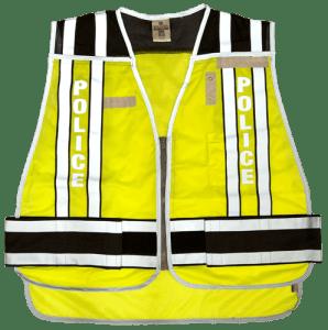 MLK 4001BZ Black/Police Class 2 Safety Vest