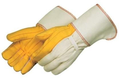 """4214 Heavy Weight Golden Chore Glove, With 4 1/2"""" Heavy Canvas Gauntlet Cuff, Dozen"""