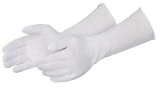 """4414 Light Weight 14"""" White Inspection Glove, Dozen"""