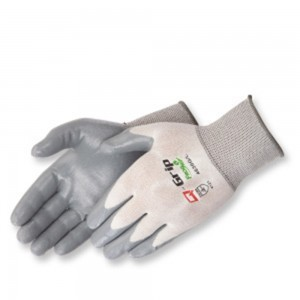 Liberty Gloves 4630Q Q-Grip Ultra-Thin Gray Nitrile Coated Palm Glove, Dozen