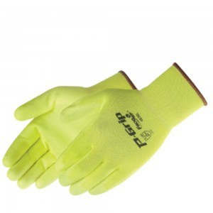 SP4636 P-Grip Ultra-Thin Fluorescent Yellow Polyurethane Palm Coated Glove, Dozen