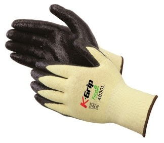 Liberty Gloves 4830 K-Grip Black Foam Palm Coated Glove, Dozen