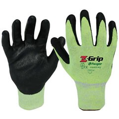 Liberty Gloves Z-Grip 4920HG Hi-Viz Green Shell with Nitrile Palm Coated , Dozen