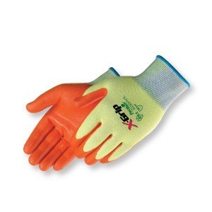 Liberty Gloves 4930HV X-Grip Fluorescent Orange Nitrile Palm Coated, Dozen