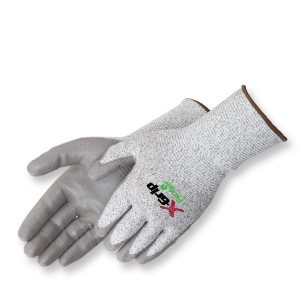 Liberty Gloves 4944 X-Grip Salt & Pepper 13 Gauge Palm Coated Glove with Extended Knit Wrist, Dozen
