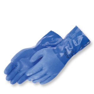 "Liberty Gloves Atlas 660 Premium Triple Dipped Blue PVC Glove with 12"" Gauntlet, Dozen"