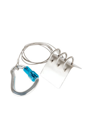FALLTECH 68035EP EDGE PROTECTOR, STAINLESS STEEL WITH ALUM CARABINER