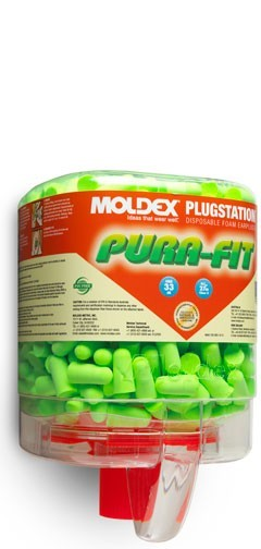 Moldex 6844 Pura-Fit Foam Earplugs - PlugStation w/ Pura-Fit 250ct