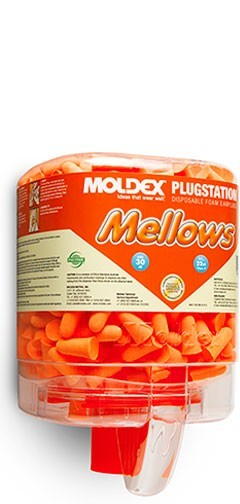 Moldex 6846 Mellows Foam Earplugs PlugStation Uncorded, 250ct