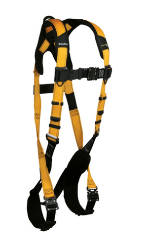 FallTech 7021BQC Journeyman Flex Aluminum 1D Ring Full Body Harness