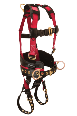 FallTech 7078 Tradesman 3D Ring Construction Belted Full Body Harness