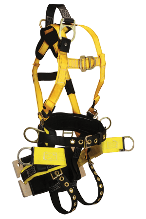 FallTech 8001B RoughNeck 7-D Full Body Harness with Integral Bosun Board Seat