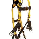FallTech 8007 Roughneck 6-D Derrick Full Body Harness, Non-belted