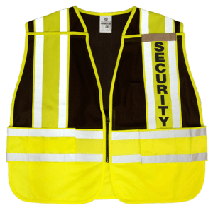 MLK 8055BZ Lime Black/Security Class 2 Safety Vest