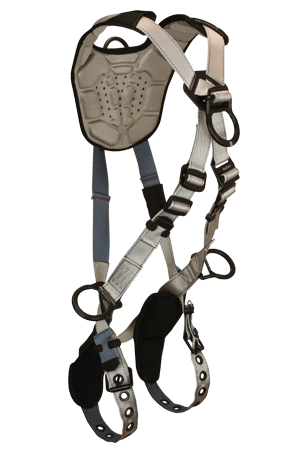 Flowtech 8098 Climbing 4-D Full Body Harness Cross-over Tongue Buckle Legs