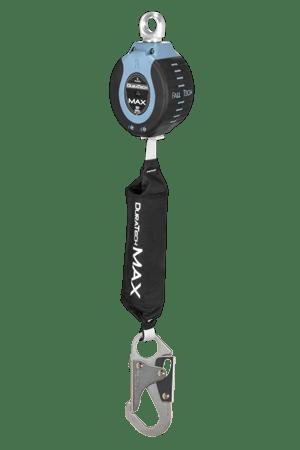 FallTech 82709SA1 DuraTech Max 9ft Single Leg Web Self-Retracting Device with Swivel Eye & Steel Snap Hook