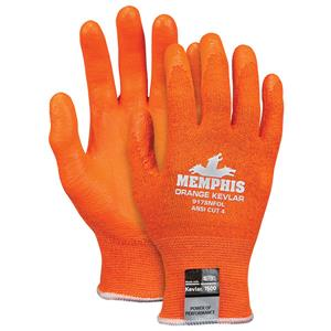 MCR 9178NFO Orange Kevlar Nitrile Foam Palm Touch Screen Glove Pair