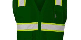 ML Kishigo B104 Enhanced Visibility Multi-Pocket Green Mesh Vest