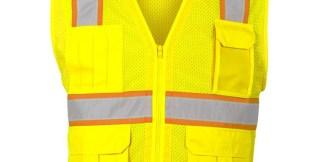 ML Kishigo B106 Enhanced Visibility Multi-Pocket Yellow Mesh Vest