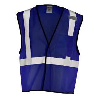 ML Kishigo B127 Enhanced Visibility Navy Blue Mesh Vest