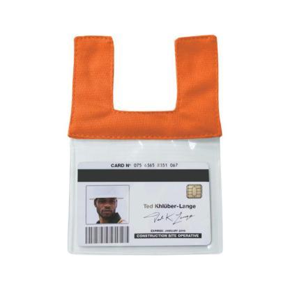 ML Kishigo RTCIDO Orange Retractable Clear ID Pocket