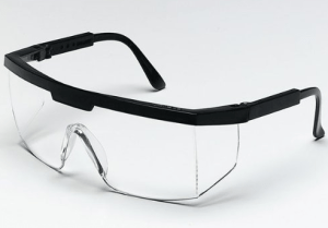 Crews 99910 Excalibur Black Frame Clear Lens Safety Glasses