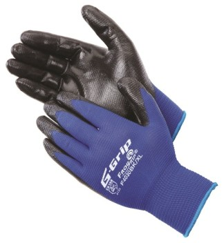 Liberty Gloves F4030BK G-GRIP Embossed Pattern Black Nitrile Foam Palm Coated Glove, Dozen