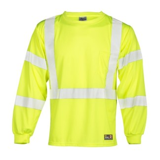 ML Kishigo F462 FR Long Sleeve Lime T-Shirt