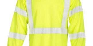 ML Kishigo F462 FR Long Sleeve Lime T-Shirt