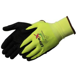 Liberty Gloves F4903HG Ultra-X 18 Gauge Highly Cut Resistant Hi Vis Lime Green Shell with Black Micro-Foam Nitrile Dots Coated Palm, Dozen