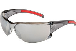 HK117 Hellkat Silver Mirror Lens With Black Frame and Red TPR  Temple