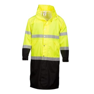 RWJ108 Class 3 Brilliant Series Lime Long Rain Coat