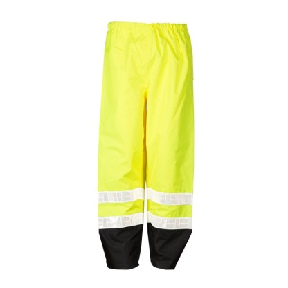 ML Kishigo RWP100 Storm Stopper Pro Class E Lime Rainwear Pants
