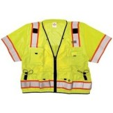 ML Kishigo S5010 Yellow/Lime Professional ANSI Class 3 Surveyor Safety Vest