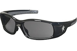 SR112 SWAGGER POLISHED BLACK FRAME, GRAY LENS