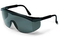 SS112 Stratos Safety Glasses Black Frame - Grey Uncoated Lens