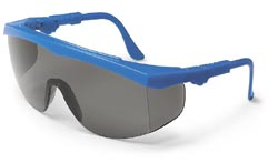 Tomahawk Safety GlassesBlue Frame, Grey Lens