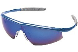 TM128B Tremor® Indigo Blue Frame, Blue Diamond Mirror Lens
