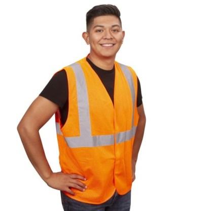 Cordova V210P Orange Class 2 Mesh Safety Vest