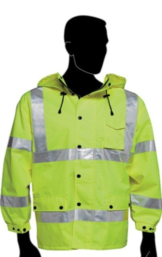 C16720G WATERPROOF LIME WINDBREAKER