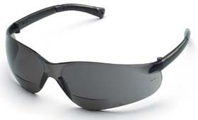 BearKat Magnifier Safety Glasses, Clear & Gray Lens