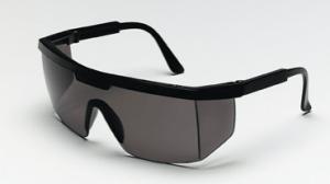 CREWS 99912 Excalibur Safety Glasses, Black Frame, Gray lens